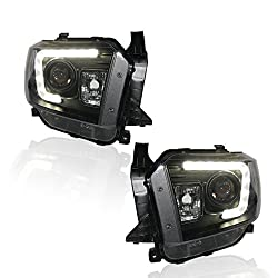 See Win Power LED DRL Projector Headlight For 2014-2015 Toyota Tundra With 6000K H9 Xenon Bulb And Ballast Details