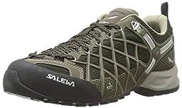 Salewa Men\'s MS Wildfire Vent Approach Shoe, Black/Juta, 8 M US