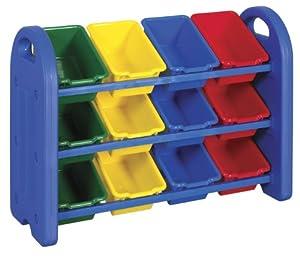 ECR4Kids 3-Tier Toy Storage Organizer with 12 Bins