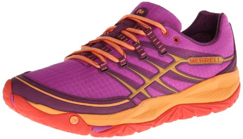 Merrell Women's All Out Rush Trail Running Shoe,Purple/Grenadine,5 M US