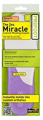 Profoot 2oz. Miracle Custom Molding Insoles, Women's 6-10, 1 Pair (Pack of 3)