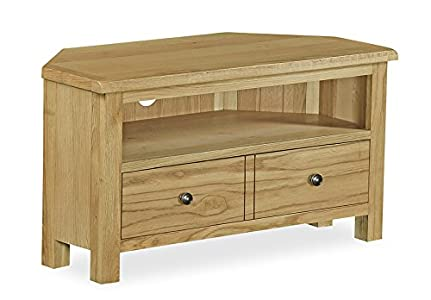 The Best  Cambridgeshire Oak Corner TV Unit