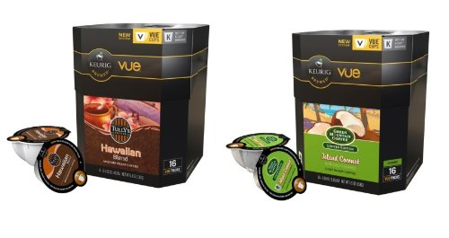 32 Count -Tropical Coconut Coffee Vue Cup For Keurig Vue Brewers - Tully's Hawaiian, Green... by Tully's & Green Mountain