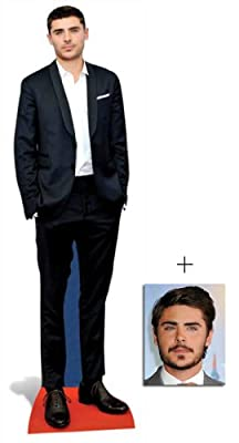 Fan Pack - Zac Efron Lifesize Cardboard Cutout / Standee - Includes 8x10 (20x25cm) Star Photo