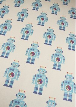 Robot Rolled Gift Wrap (Robot Wrapping Paper compare prices)