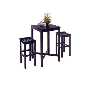 Home Styles 5982-358 3-Piece Pub Set, Black Finish