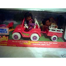 Barbie – Kelly & Tommy Power Wheels Jeep & Wagon Motorized Playset African American (1997 Mattel, Fisher Price)