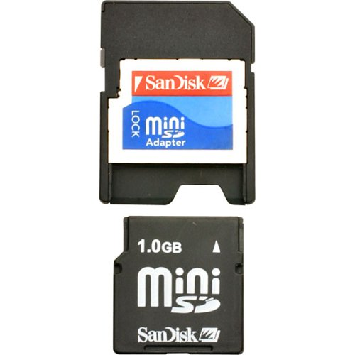 Best Prices! SanDisk 1GB miniSD Card (SDSDM-1024-A10M, Retail Package)