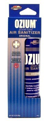 Ozium Air Sanitizer (1500 Sprays) (3-Pack) with Free Nail File