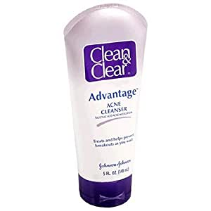 Clean & Clear Advantage Acne Cleanser, 5-Ounce Tubes (Pack of 3)