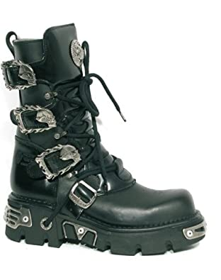 New Rock Metal Boots (391-S1) Black (Größe 48)