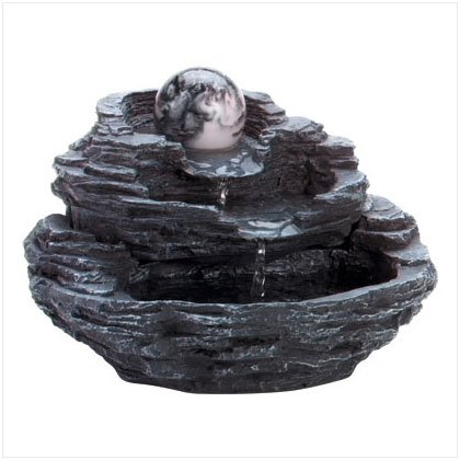 Rock Design Gift Indoor Tabletop Desktop Water Fountain