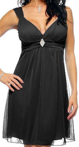 Black Strap Rhinestone Evening Prom Party Mini Dress