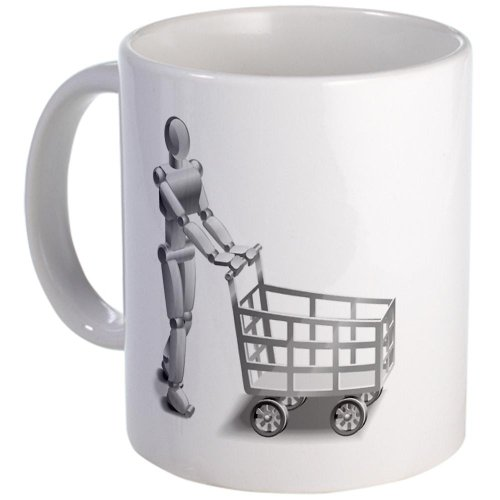 Cafepress Shopping Robot Mug - Standard