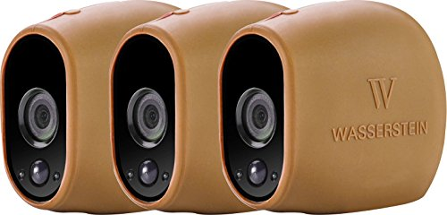 New 3x Silicone Skins for Arlo Smart Security - 100% Wire-Free Cameras by Wasserstein (3 Pack, Brown...