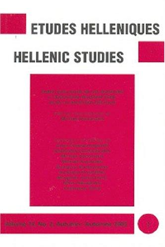 Etudes Helleniques = Hellenic Studies