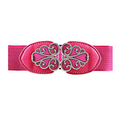 Women Retro Wide Elastic Clothes Dress Accessory Waist Cinch Belt Waistband