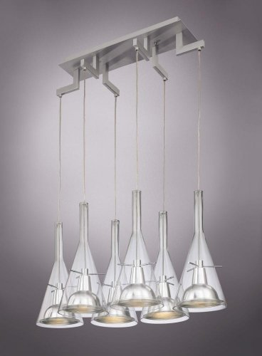 George Kovacs Clear Glass 6-Light Pendant Chandelier