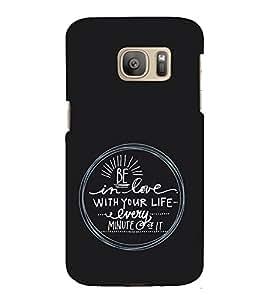 EPICCASE Be in Love Mobile Back Case Cover For Samsung Galaxy S7 (Designer Case)