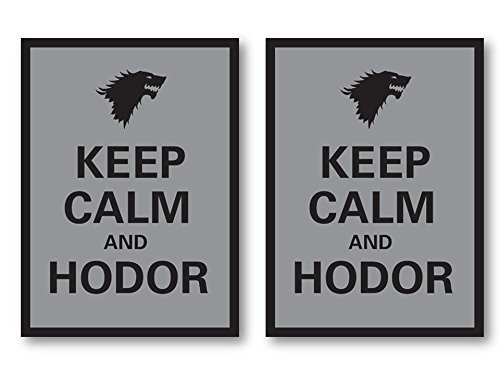 100 Keep Calm and Hodor Deck Protectors Legion Supplies Matte Finish Sleeves 2-Packs - Standard Magic the Gathering Size - 1