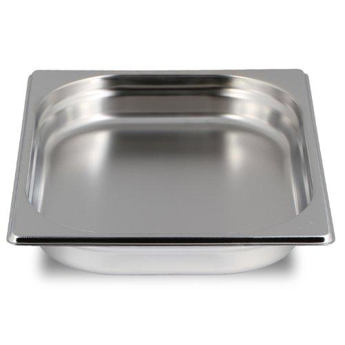 Greyfish GN Behälter :: ungelocht :: für Gaggenau / Miele / Siemens Dampfgarer (Edelstahl / Spülmaschinentauglich, Gastronorm 2/3, B 32,5 x L 35,4 x 40mm tief)