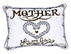 Mother Love Decorative Tapestry Toss Pillow