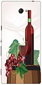 Snoogg The Glass Of Red Wine Bottle Old Barrel And Grape Vector Designer Prot...