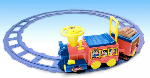 National Products 6V Battery Operated Talking Train with Track