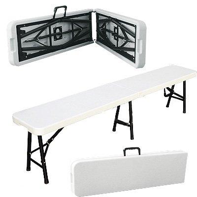 Folding Sports Bench Plastic 6' Folding Bench