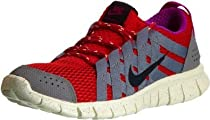 Nike Free Powerlines Red Grey Sportwear Mens Running Shoes 525267-601 [US size 9.5]