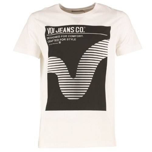 "Herren Voi Jeans Booker T-Shirt Weiß Jungs Männchen (L To Fit Chest 38-40"" Euro Large)"