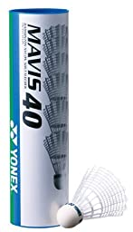 Yonex MAVIS 40 Badminton Nylon Shuttlecock (M-40P 1/2DOZ),Middle speed -blue