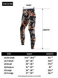 EU Men\'s Compression Tight Camo Pants Base Layer Running Leggings X-Large Orange