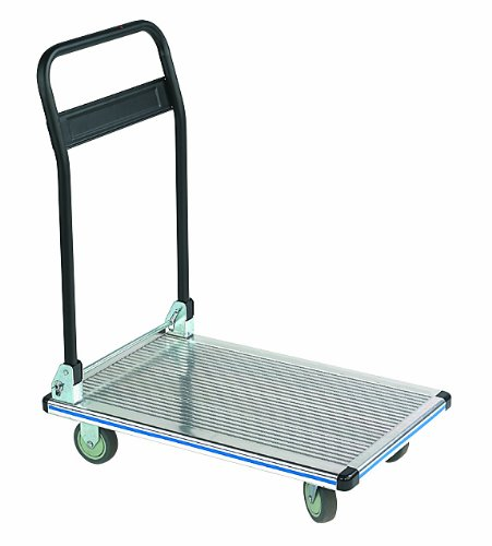 Wesco 272112 Aluminum Platform Truck with Folding Handle, 550 lbs Load Capacity, 35-1/2