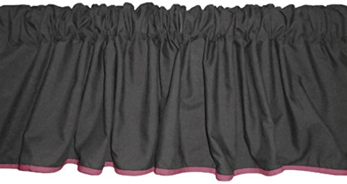 Baby Doll Reversible Window Valance, Grey/Pink