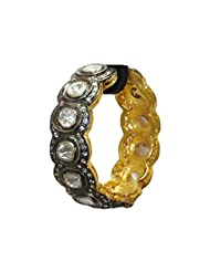 Gehna White Sapphire Gemstone Studded Bracelet Made In .925 Solid Silver