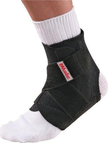 Mueller - Protezione articolazione piede, Livello di supporto avanzato, colore: Nero