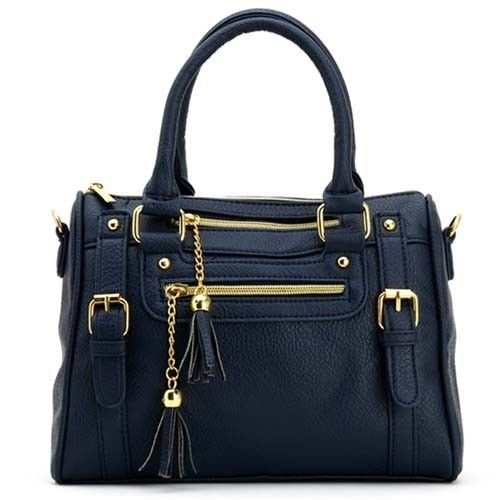 Cross Body Bag Womens New Ladies Shoulder Tote Handbag Faux Leather Hobo Purse (Navy) Reviews