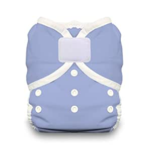 Thirsties Duo Wrap Diaper Cover with Hook and Loop, Storm Cloud, Size 2