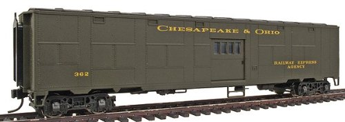 Walthers HO 932-4166 C&O-Style Troop Sleeper Conversion Express Car #362 (Goldline) (Ready-to Run)
