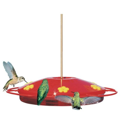 Perky Pet Hummingbird Oasis Plastic Feeder with Lower Resevior