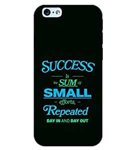 PrintDhaba QUOTE D-7038 Back Case Cover for APPLE IPHONE 6 PLUS (Multi-Coloured)