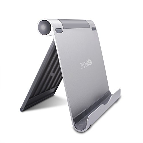 iPad Pro Stand, TechMatte Multi-Angle Aluminum Holder for iPad Pro 12.9 9.7 inch Tablets, E-readers and Smartphones - XL-Size Stand