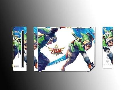 Legend of Zelda Skyward Sword Vinyl Decal Skin Protector Cover 3 for Nintendo Wii