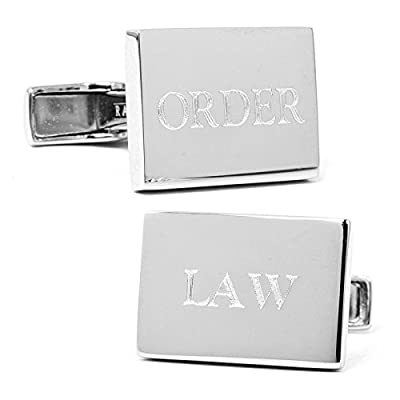Sterling Silver Law Order Cufflinks