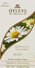 Hyleys RELAX Green Tea amp Chamomile 132 oz  25 teabags