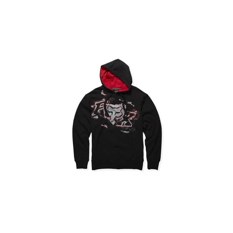 FOX TORN PULLOVER FLEECE BLACK S