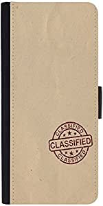 Snoogg Classified Stuff Graphic Snap On Hard Back Leather + Pc Flip Cover Son...