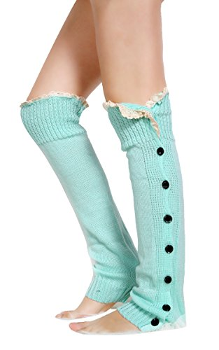 Zeagoo® Women Lace Trim Legging Socks Crochet Knitted Boot Cover Leg Warmers Stocking