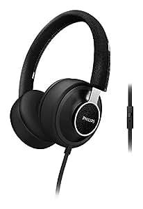 Philips Citiscape Downtown SHL5605FB/10 Casque Audio avec Coussinets isolants du bruit/Fonction prise d'appel pour Téléphone portable Noir Denim